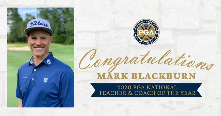 Greystones Mark Blackburn Named 2020 PGA National Teacher & Coach of the Year