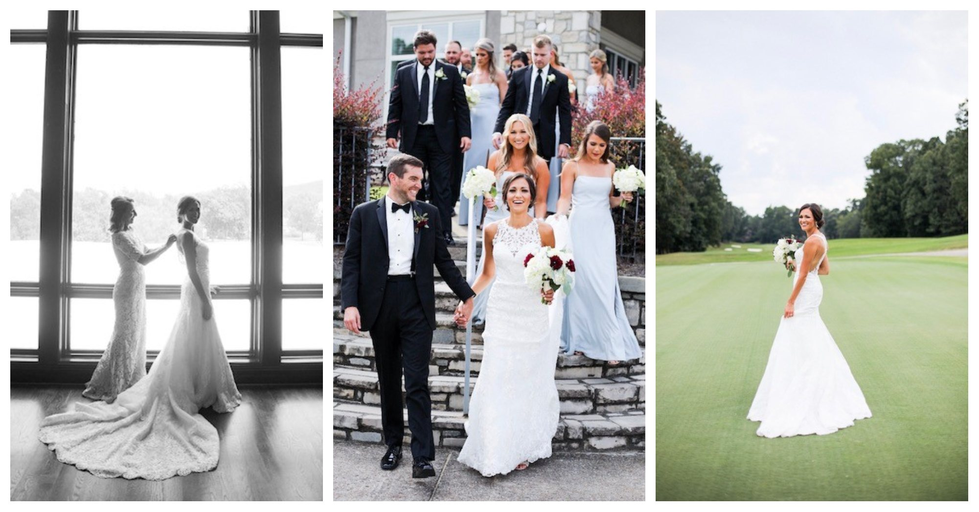 Renee Nicholas Wedding Reception – wedding party header – Greystone G&CC